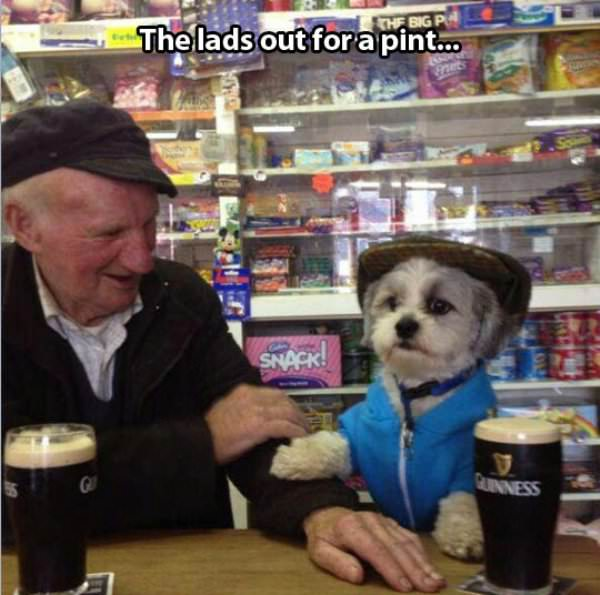 Lads Out For a Pint funny picture