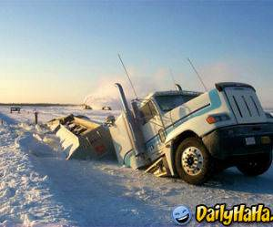 The driver must have misjudged the temperature!