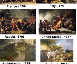 paintings around the world funny picture