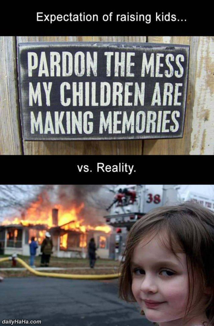 parenting expectation vs reality funny picture