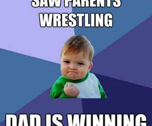 Wrestling Parents funny picture