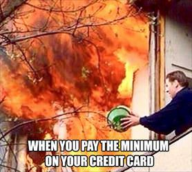 paying the minimum on your credit card