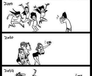 photo to selfie evolution funny picture