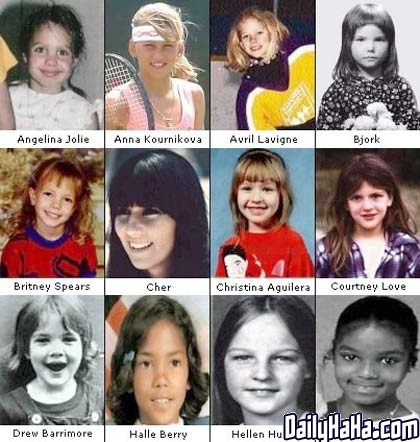 Celebrities_as_Kids_-_Girls