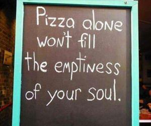 pizza alone