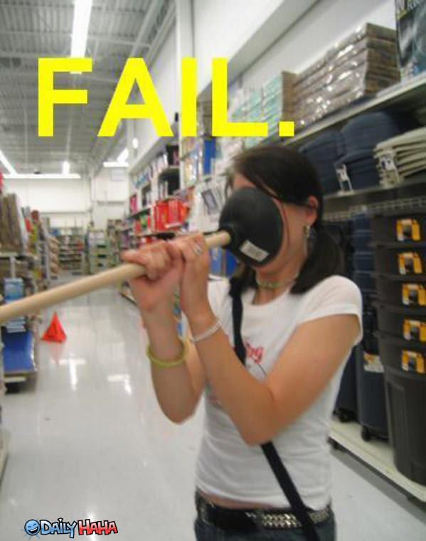 Plunger FAIL funny picture