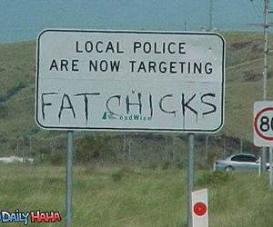 Targeting Fat Chicks Funny Picture