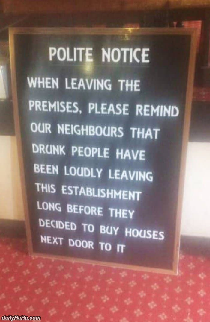 polite notice funny picture