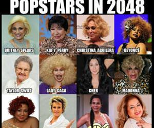 popstars in 2048 funny picture