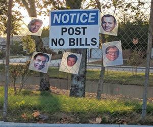 post no bills funny picture