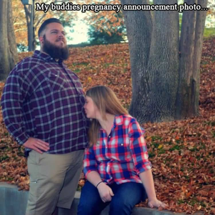 pregnancy announcement funny picture