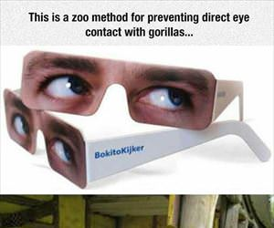preventing eye contact