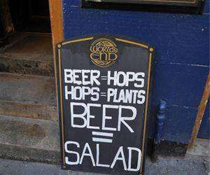 proof beer is salad funny picture