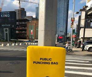 public punching bag