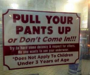 Pull your Pants Up funny picture