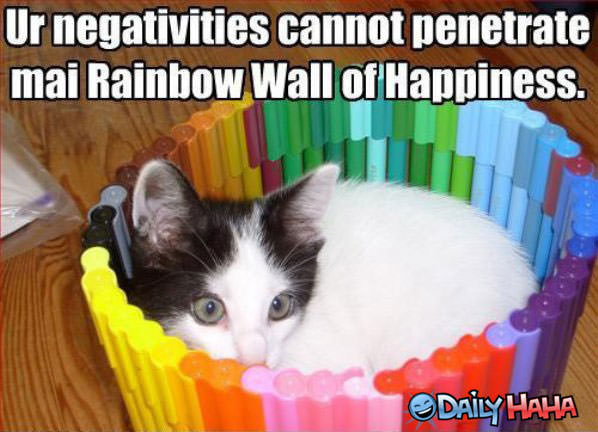 Happy rainbow funny picture
