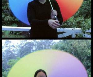 Rainbow Twirling funny picture