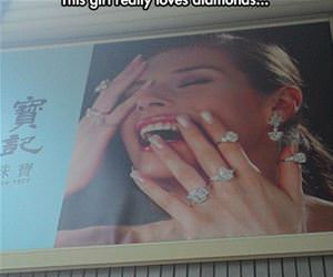 really loves diamonds funny picture