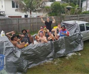 redneck pool party funny picture