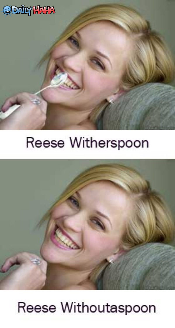 Reese Witherspoon and without