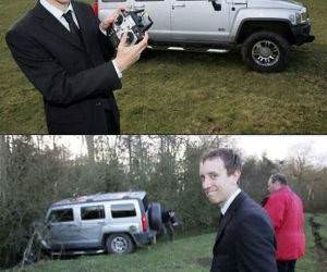 Remote Control Hummer Crash funny picture