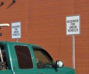 reserved for green vehicles ... 2