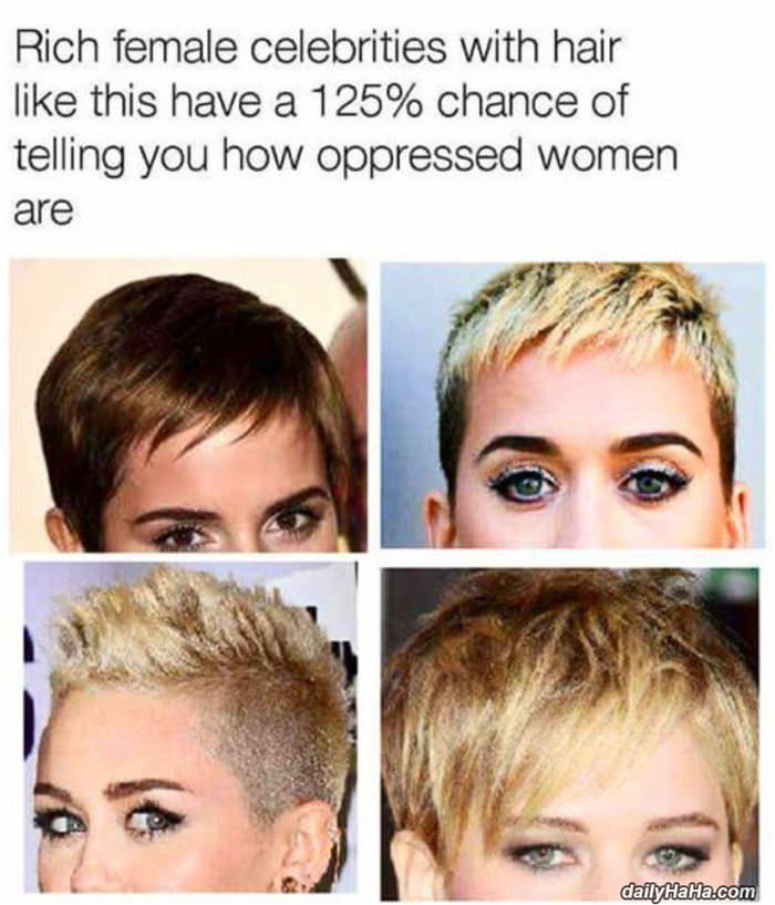 rich women with this haircut funny picture