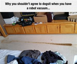 robot vacuum dog poop funny picture