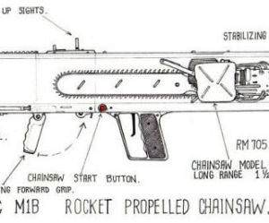 Rocket powered chainsaw