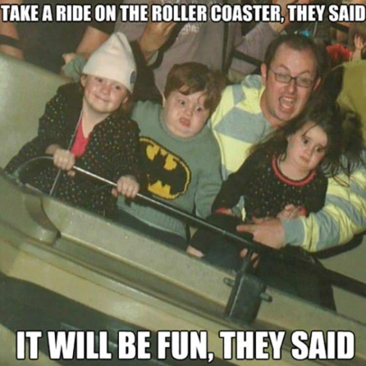 roller coaster ride funny picture