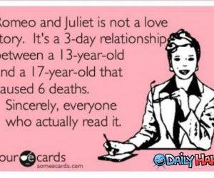Romeo and Juliet funny picture