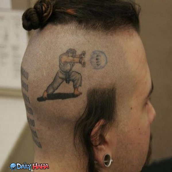 Street Fighter Tattoo Funny Picture