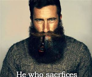 sacrafices his beard funny picture