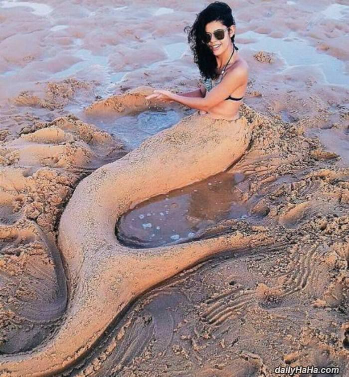 sandy mermaid funny picture
