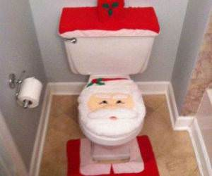 Santa Toilet flash game