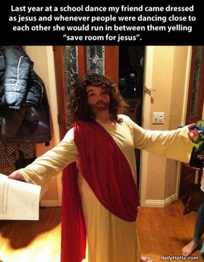 save room for jesus funny picture