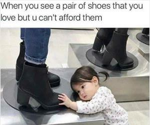 seeing that pair of shoes