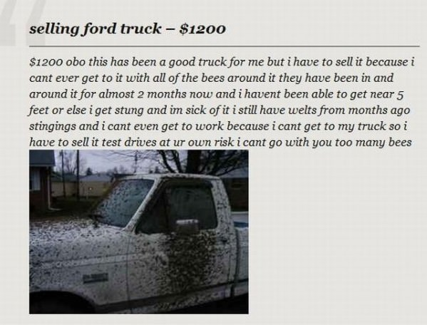 Funny Ford Signs Ford truck for sale funny