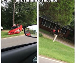 she finished the job funny picture