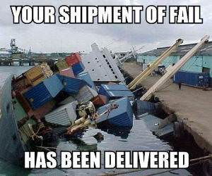 Shipment of Fail Delivered