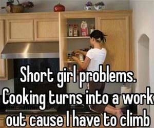 short girl problems funny picture