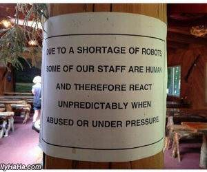shortage of robots funny picture
