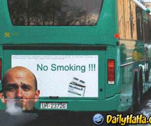 A funny ad against smoking.