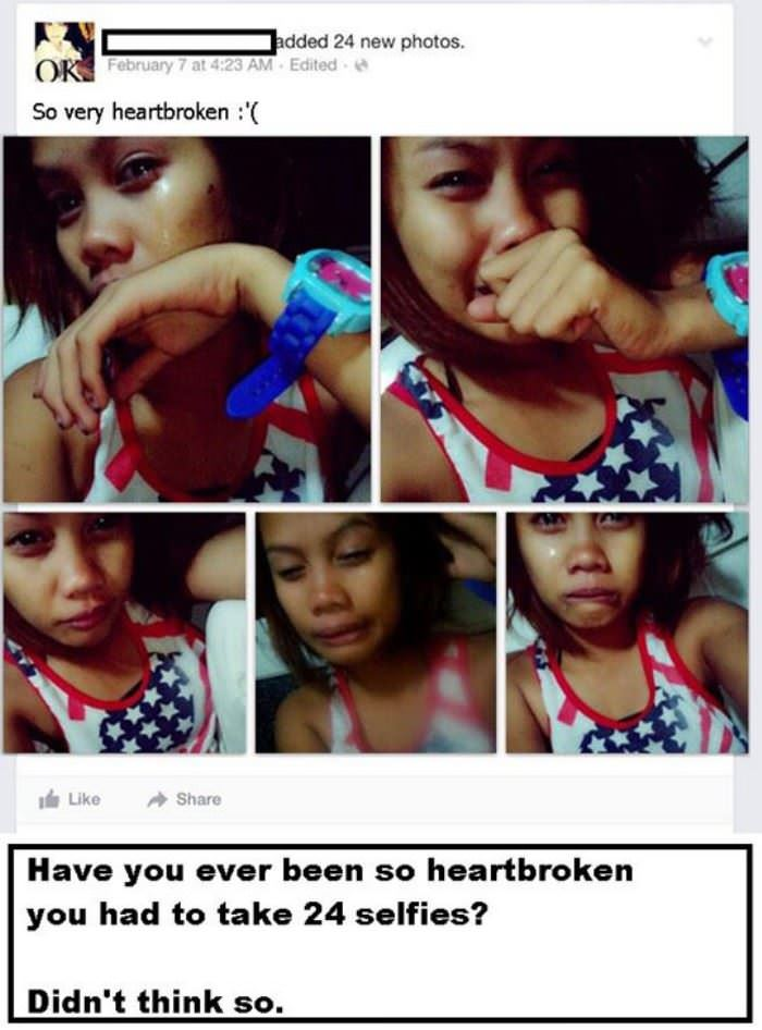 so heart broken funny picture