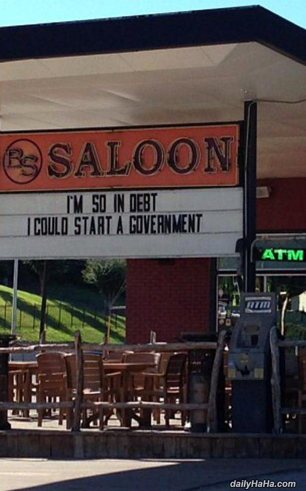so in debt funny picture