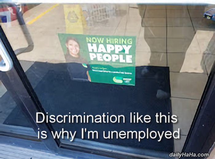so much discrimination funny picture