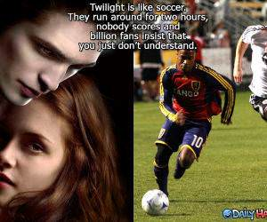 Soccer vs Twilight funny picture