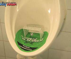 Urinal Soccer Game