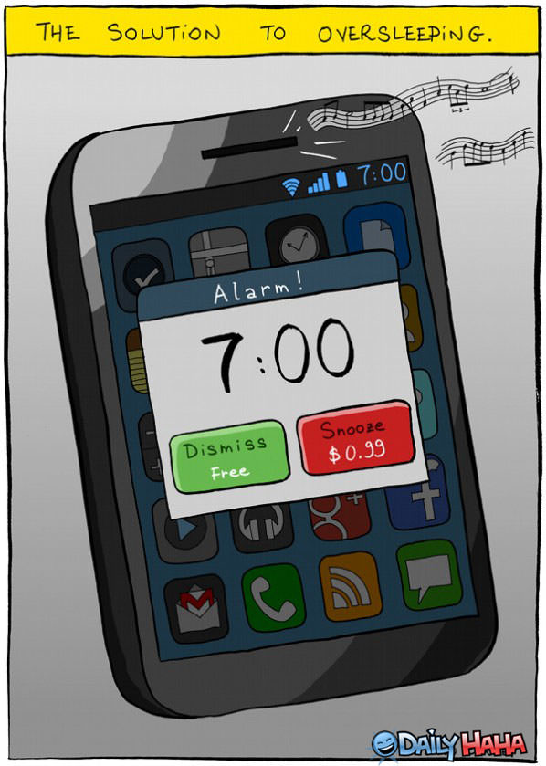 Solution For Oversleeping funny picture