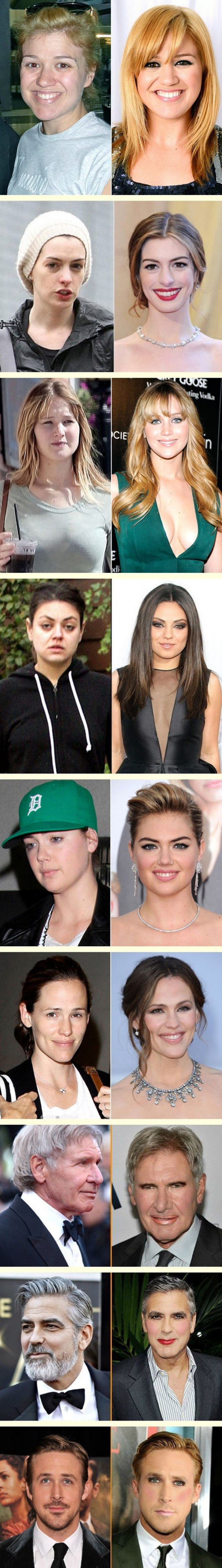 some celebs with makeup funny picture